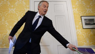 "Tony Blair said ""I express more sorrow, regret and apology than you may ever know or can believe""."