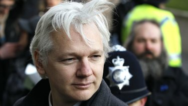 London police will no longer maintain a 24-hour-a-day guard at the embassy where Julian Assange, pictured in 2012, has taken refuge.