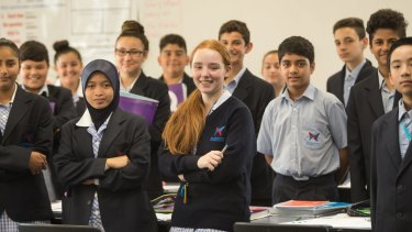 William Ruthven Secondary College in Reservoir has shunned streaming. Instead, students learn in classes of mixed abilities.