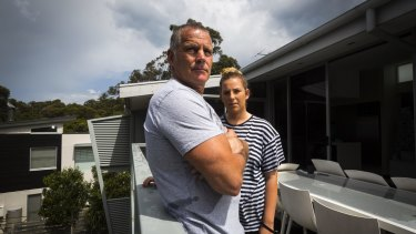 """Lorne residents Peter Murrihy and his daughter Keeley Murrihy both chose to stay. """"I wasn't going to leave Dad, at all,"""" Keeley said."""