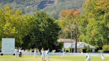 Picturesque Bradman Oval backed by Mt Gibraltar and one of its hallmark quarry scars.