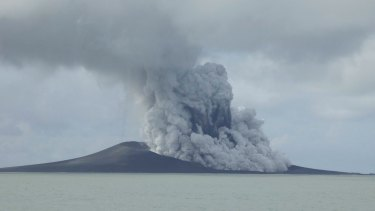 A volcano that has been erupting for several weeks near Tonga in the South Pacific Ocean has created a new island in the ocean.