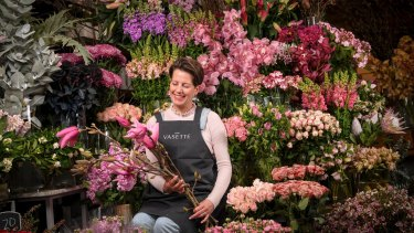 Coming up roses ... Sonya Wilson of Flowers Vasette is part of the team responsible for creating the floral installations for the Dior gala.