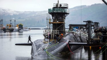 One of four Royal Navy submarines armed with Trident missiles.