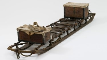 Curatorial Blog - Object Number H8144 Mawson's sled Sledge used on Mawson's Australasian Antarctic Expedition of 1911-1914 made by L. Hargen & Co. of Norway in 1911. Collection of the Museum of Applied Arts and Sciences.