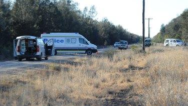 The scene of the fatal shooting inTalga Lane, Croppa Creek, near Moree on July 30, 2014.