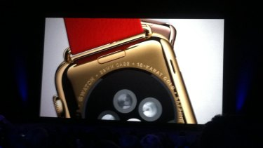 Apple Watch: One model is made of 18-karat gold.