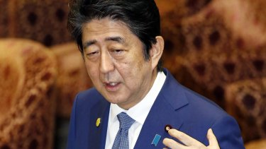 """Shinzo Abe told parliament last month his wife Akie had resigned from """"honorary principal"""" of a private elementary school run by a man with ultra-nationalistic views."""