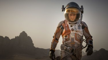 Surviving on the red planet won't be easy, as depicted in the film <i>The Martian</i>.