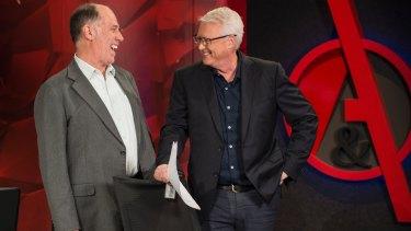 Q&A producer Peter McEvoy and host Tony Jones.