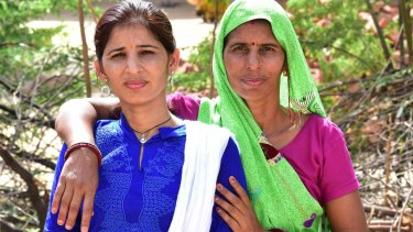 Vijayalaxmi Sharma, left, with her mother Kamla who was opposed to her daughter's campaign but is now proud of her.