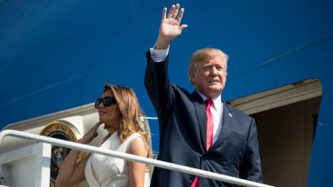 US President Donald Trump and first lady Melania Trump arrive in Hawaii on Friday, before travelling to Asia.