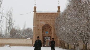 Uighurs in Xinjiang, China.