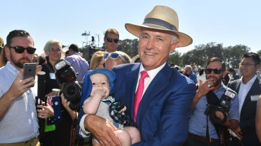 Prime Minister Malcolm Turnbull attends an Australia Day Citizenship Ceremony and Flag Raising event in Canberra on Friday.