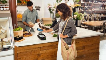 Existing contactless terminals in shops work with Android Pay.