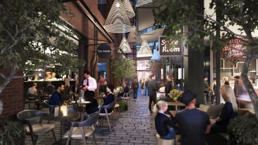 The proposed redevelopment at the Jam Factory, South Yarra