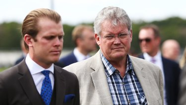 Trainer Anthony Cummings (right) during the Spring Carnival launch at Royal Randwick on Thursday.