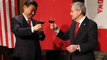 Terry Branstad, right, with then Chinese Vice President Xi Jinping in Iowa in 2012.