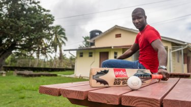 Darren Sammy where he first started playing cricket, in the community of Ti Rocher, Micoud, St Lucia.