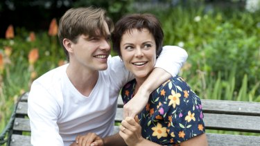 """Xavier Samuel as Otto and Matilda Brown as Ada. At times the science-fiction gimmickry seems to mask a story about the """"impossible"""" love between an older woman and a younger man."""