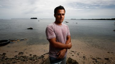 Refugee Imran Mohammad Fazal Hoque on Manus Island, April 12, 2017.