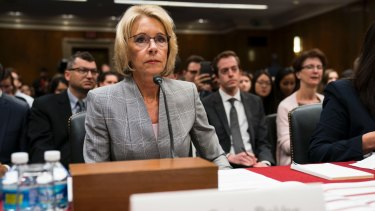 Betsy DeVos is re-evaluating the get-tough policies on campus sexual assault enforced by the Obama administration.