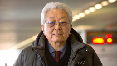 North Korea's IOC representative Chang Ung arrives in Beijing in transit to Lausanne, Switzerland, for Olympic talks.