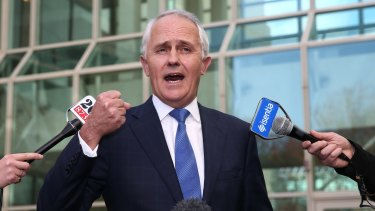 Malcolm Turnbull: sounding great is a big part of politics.