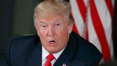 War of words: Donald Trump.