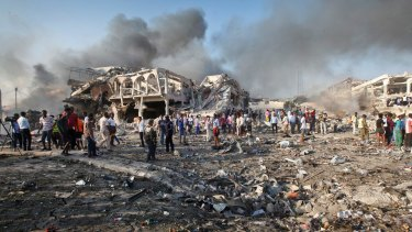 The horrific aftermath of the October 14 attack in Mogadishu, which killed hundreds of Somalis.