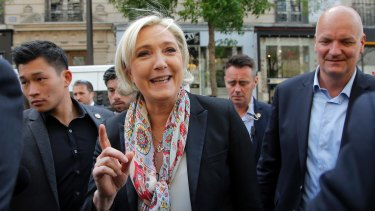 Simply Marine: Madame Le Pen is trying to distance herself from her party.
