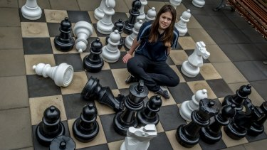 Female chess player Saffron Archer. Players are equal when the game begins but girls and women comprise only 15 per cent of tournament chess players in Australia.