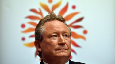 Billionaire Andrew Forrest could be counting on a yearly pay cheque of more than half a billion US dollars from 2018 if current profit levels are maintained and more if profits improve.