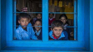Singhakali Lower Secondary School in northern Nepal.