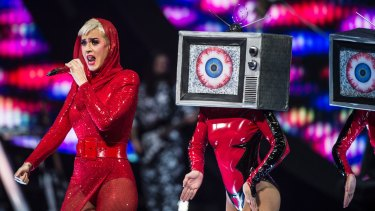 Pop panache: Katy Perry delights her many young fans.
