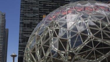 The Amazon.com headquarters in Seattle, Washington.