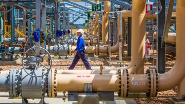 The Santos Fairview Gas Processing Hub near Roma, west of Brisbane.
