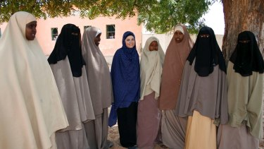 Imogen Bailey with women in Mogadishu on the latest series of <i>Go Back to Where You Came From?</i>