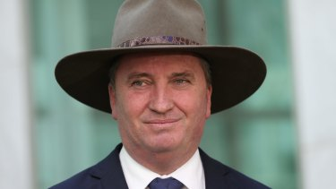 """I make no apology for making sure that those who didn't need it, who got it, pay the money back"": Deputy Prime Minister Barnaby Joyce."