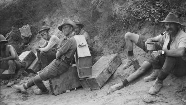 Water carrying duty: Men of the Australian 6th Battery at Gallipoli.