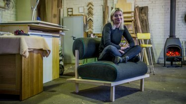 Christina Bricknell and her Doe Chair.