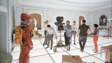 Kubrick classic: On set during filming of 2001: A Space Odyssey.