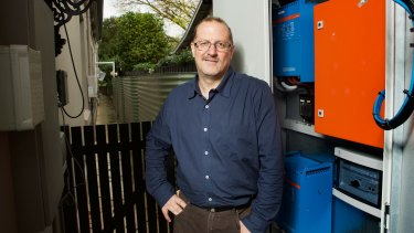 Simon Hackett has installed Redflow batteries at his Adelaide business park and home as a vote of faith in the technology.