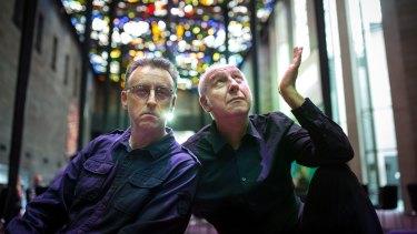 Heavenly partnership: Tony Martin and former TISM member Damian Cowell.