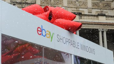 eBay shoppers will be able to pick up their purchases from Woolworths owned stores
