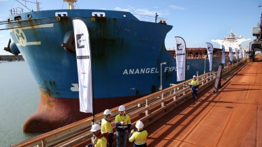 The first shipment of iron ore from Roy Hill was on December 10, 2015.