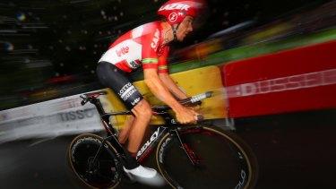 Fresh legs: Adam Hansen during stage one.
