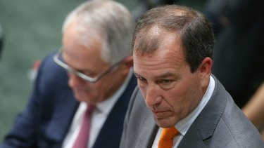 Crucial test of judgment: Prime Minister Malcolm Turnbull and Mal Brough.