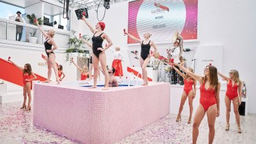 Last year's Mumm marquee incorporated a swimming pool.