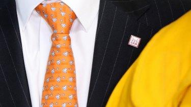 Mr Turnbull wore a CFA pin.